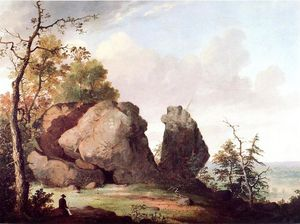 George Henry Durrie - Les juges Cave, West Rock, New Haven