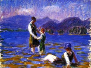 William James Glackens - lac baigneurs