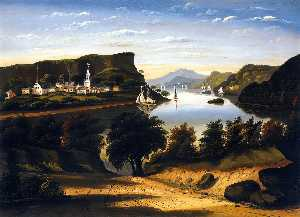 Thomas Chambers - lac george et le village de caldwell