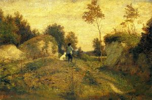 William Morris Hunt - paysage au