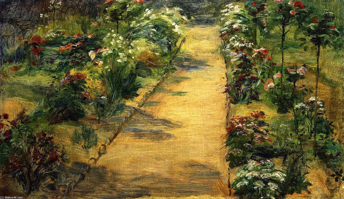 Paysage jardin cheminement huile sur toile de marie for Paysage de jardin