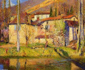 Henri Jean Guillaume Martin - paysage proche toulouse