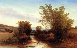 Albert Fitch Bellows - Paysage avec Passerelle