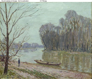 Alfred Sisley - Bords du Loing Hivernal