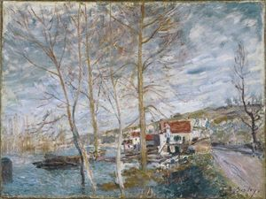 Alfred Sisley - Inondation à Moret