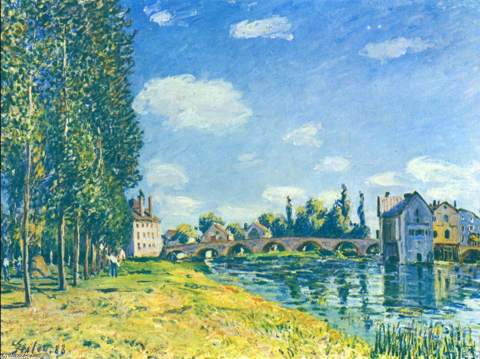 TheA0strawA0Rent, huile sur toile de Alfred Sisley (1839-1899, France)