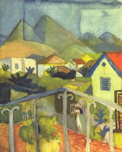 August Macke - St .  Germain near Tunis