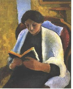 August Macke - lecture femme