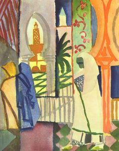 August Macke - Dans le Temple Hall