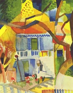August Macke - Cour intérieure of house à st .  Germain