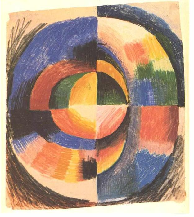 Couleur cercle de august macke 1887 1914 germany - Cercle des couleurs peinture ...