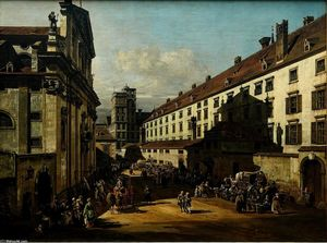 Bernardo Bellotto - The Dominican Church à Vienne