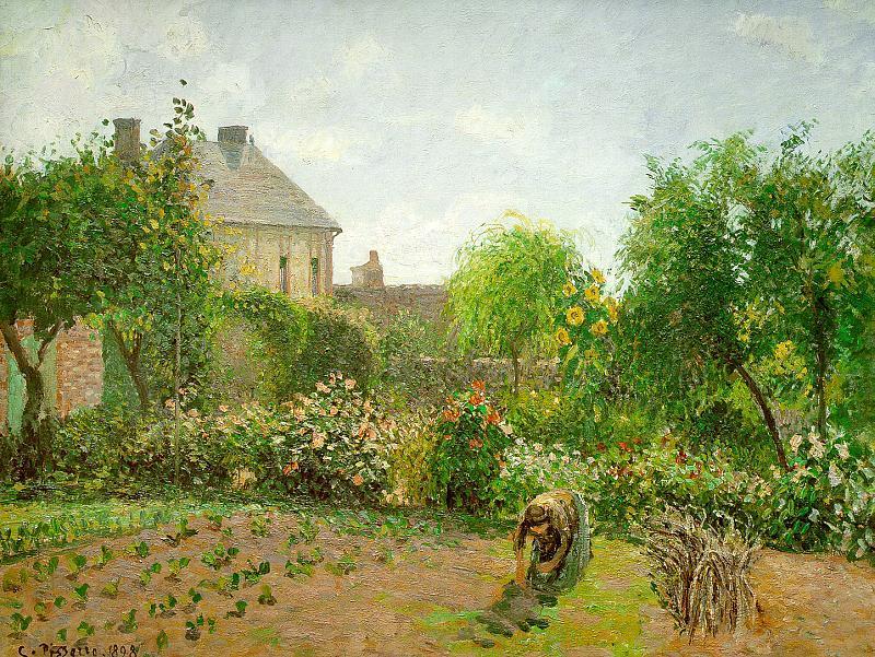 Jardin De L Artiste Eragny Huile Sur Toile De Camille