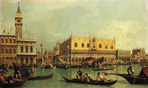 Giovanni Antonio Canal (Canaletto) - piazzetand palais des doges du bacino di san marco