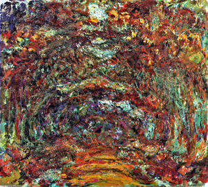 Claude Monet - le rose chemin , Giverny