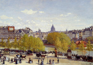 Claude Monet - wharf` des louvre Le Paris