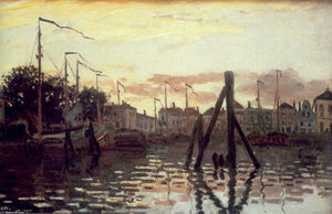 Claude Monet - Le Port à Zaandam