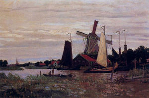 Claude Monet - Moulin à vent à Zaandam