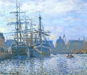 Claude Monet - Le Havre , le `bassin` commerce