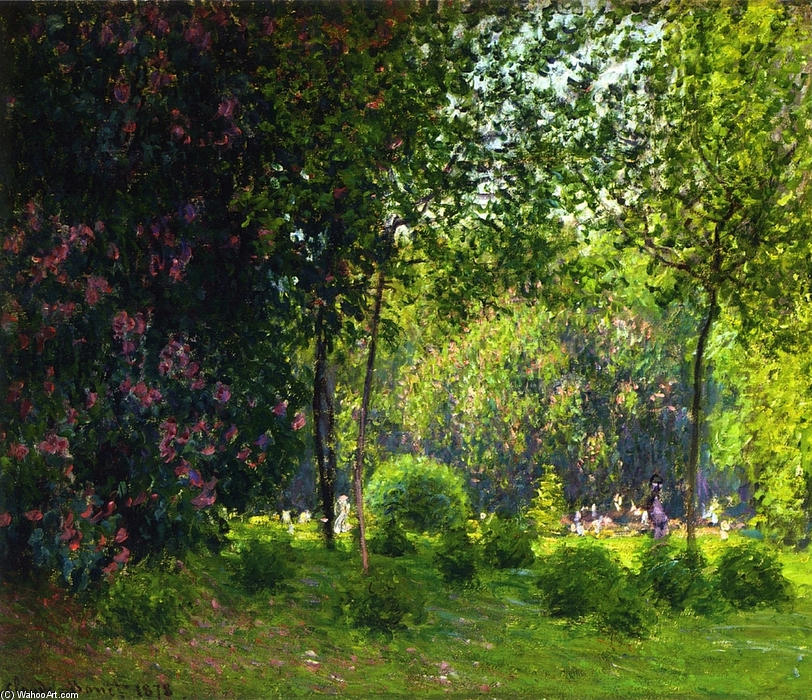 Parc Monceau 2, 1878 de Claude Monet (1840-1926, France)