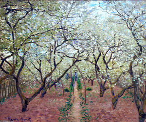 Claude Monet - Orchard in Bloom