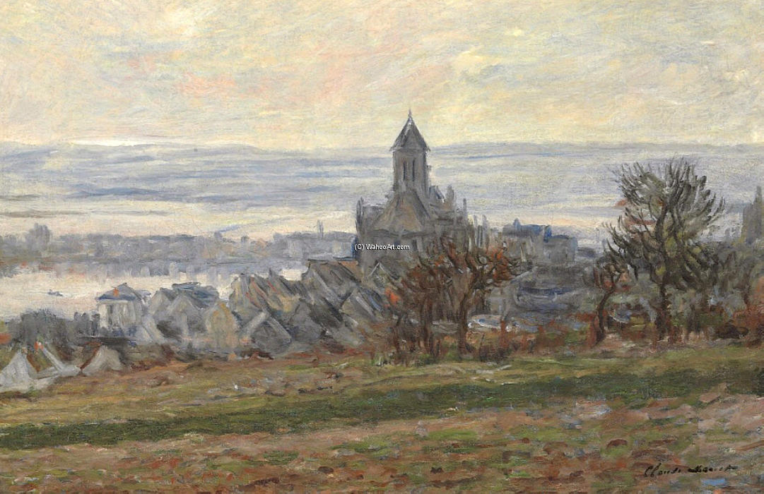 L église de Vétheuil, 1881 de Claude Monet (1840-1926, France)