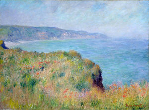 Claude Monet - Cliff près de Pourville