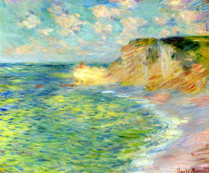 Claude Monet - Cliffs at Amont