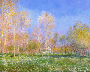 Claude Monet - printemps dans giverny
