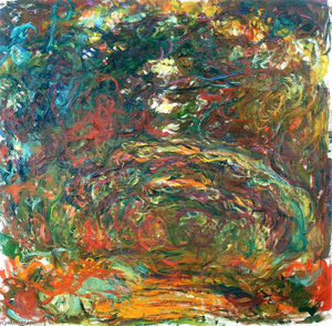 Claude Monet - Chemin sous le rose Arches , Giverny