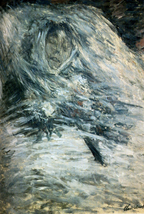 Camille Monet sur son lit de mort, 1879 de Claude Monet (1840-1926, France) | Reproductions D'art Sur Toile | WahooArt.com