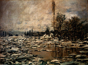 Claude Monet - The Break-up de la glace