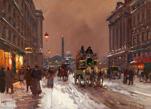 Edouard Cortes - rue royale , Hivernal