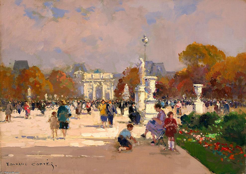 Populaire des Tuileries de Edouard Cortes (1882-1969, France) LQ09