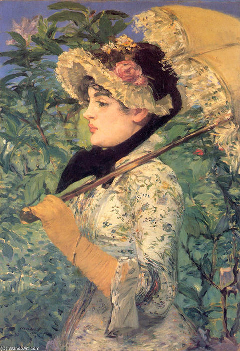 Printemps ( étude de jeanne demarsy ), aquatinte de Edouard Manet (1832-1883, France)