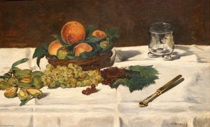 Edouard Manet - Nature Morte fruits sur une table
