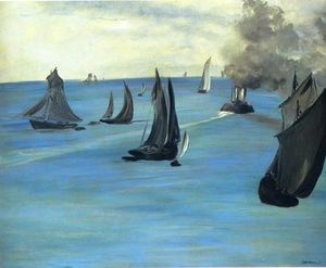 Edouard Manet - Steamboat laissant Boulogne