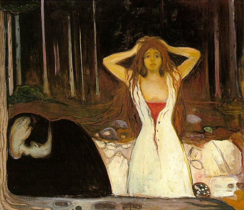 Cendres, huile sur toile de Edvard Munch (1863-1944, United Kingdoms Of Sweden And Norway)