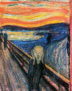 Edvard Munch - Le Cri - (copie de tableau)