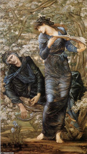 Edward Coley Burne-Jones - La Séduction de Merlin (Merlin et Vivien)