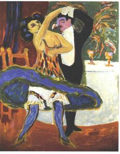 Ernst Ludwig Kirchner - anglais danse couple