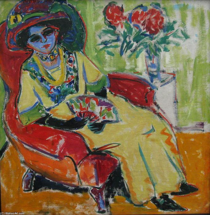 Assis Lady (Dodo), 1907 de Ernst Ludwig Kirchner (1880-1938, Germany)