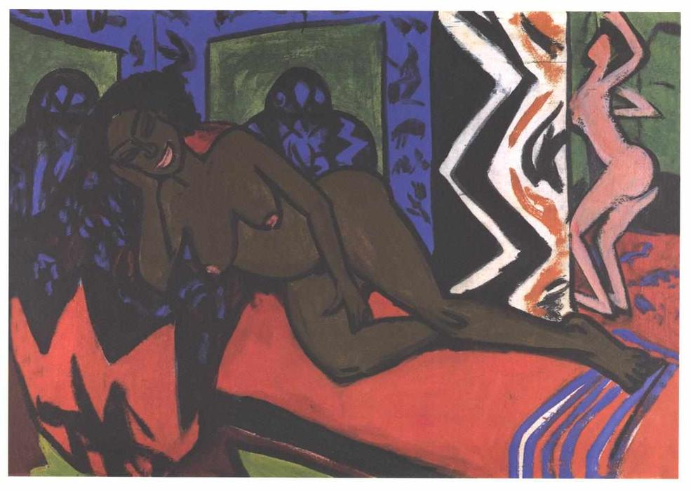 sleeping nilly de Ernst Ludwig Kirchner (1880-1938, Germany)