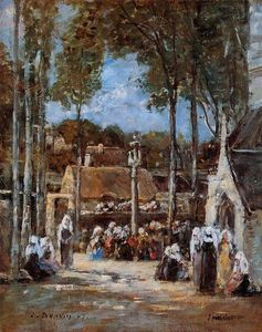 Eugène Louis Boudin - Pèlerinage local à Landerneau