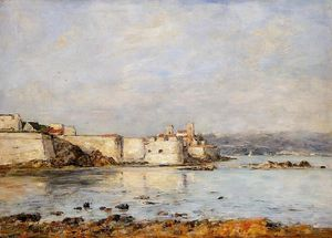 Eugène Louis Boudin - Antibes , les fortifications