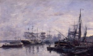 Eugène Louis Boudin - bordelaise la  Port