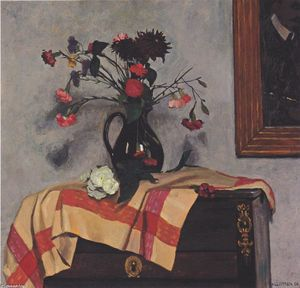 Felix Vallotton - nature morte avec autoportrait