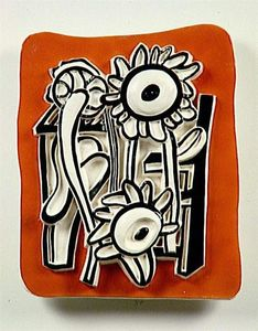 Fernand Leger - Soleils sur un fond orange
