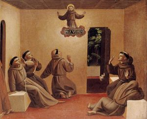 Fra Angelico - Apparition de st Francis au Arles