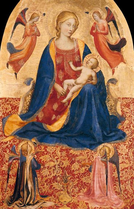 Vierge d humilité, 1418 de Fra Angelico (1395-1455, Italy) | Reproductions D'œuvres D'art Fra Angelico | WahooArt.com